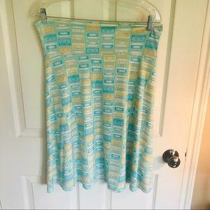 LuLaRoe Azure Skirt, Size Large